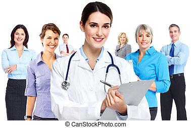 medische arts, woman.