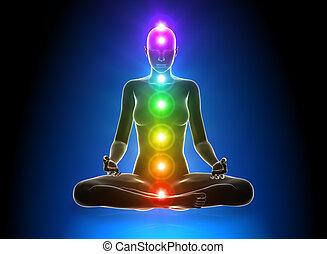 meditação, chakras
