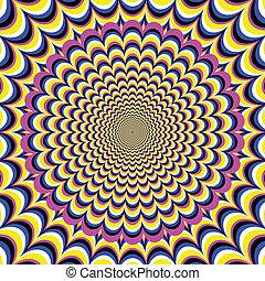 meditação, flor, ilusão, óptico