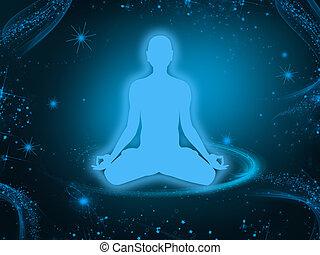 meditação, fundo