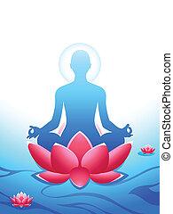 meditação, ioga