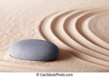meditação, zen, pedra