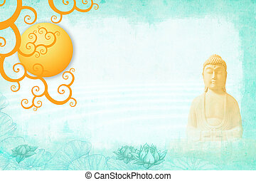 meditación, buddah