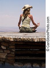 meditación, el mirar encima, el, barranca magnífica
