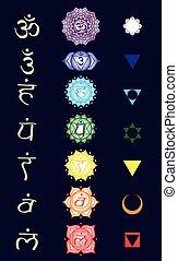 meditación, hinduismo, chakra, lista, tantric, budismo, yoga...