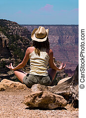 meditar, en, barranca magnífica