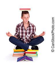 meditare, adolescente