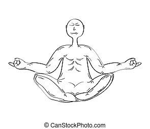 meditare, monaco