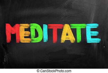 Meditate Concept