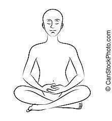 meditatie, pose
