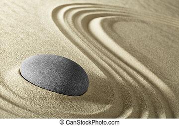 meditatie, zen, steen, achtergrond