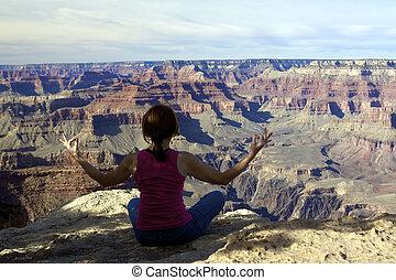 Meditating at Grand Canyon