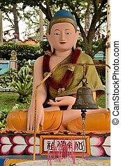 Meditating Buddha in lotus position