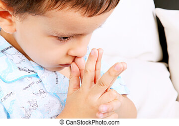Meditating - Child with his hands in prayer position