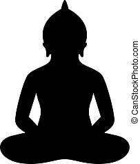 Meditating person in lotus pose icon