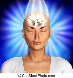 meditation, abbildung