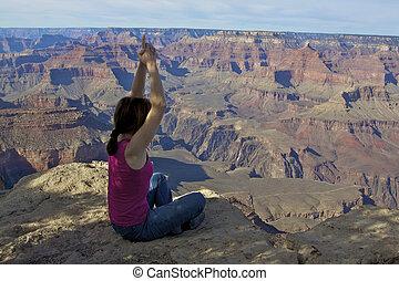 Meditation at Grand Canyon