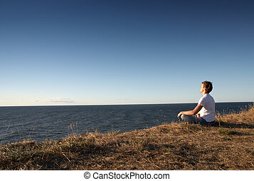 meditation at the seashore