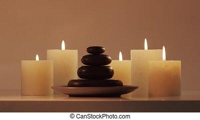 meditation., bien-être, thérapie, masage, fond, composition...