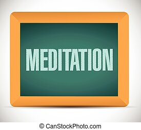 meditation board sign illustration