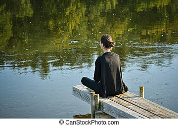 Meditation by the river.