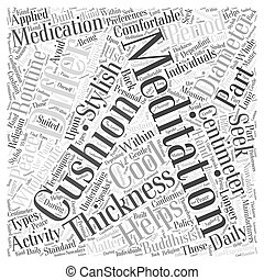 meditation cushion Word Cloud Concept