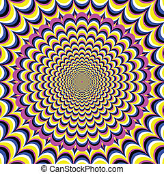 Meditation Flower optical illusion - A flower expands and...