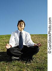 meditation, geschaeftswelt