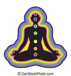 chakra - Meditation. Location of the chakras on the human...