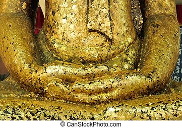 Meditation of Golden buddha statue