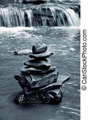 Meditation Rocks - Meditation rocks balance in front of ...