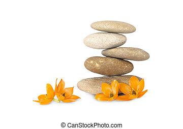 Meditation - River gravel, piled on each other.