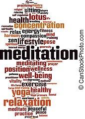 Meditation-vertical [Converted].eps - Meditation word cloud...