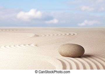 Meditation zen garden , harmony relaxation and balance concentration as a ritual in Japanese culture