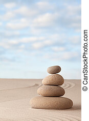 Meditation zen garden background