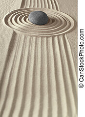 meditation, zen garten, gestein
