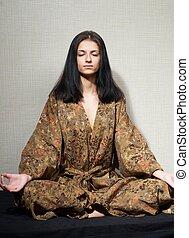 Meditative girl