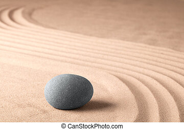 meditazione, zen, pietra