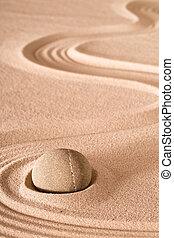 meditazione, zen, pietra, fondo