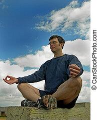 meditera, till, den, sky