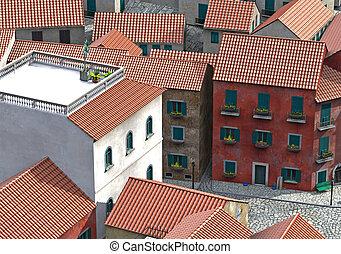 mediteran village - 3d render