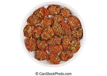 mediterráneo, llenó tomates