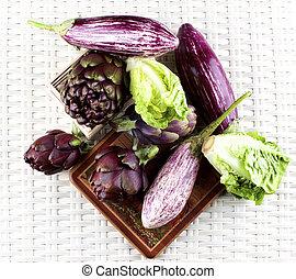 mediterráneo, verduras frescas