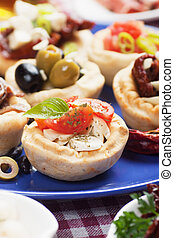 Mediterranean appetizer food