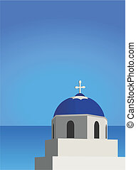 Mediterranean Architecture - Illustration of a church and ...