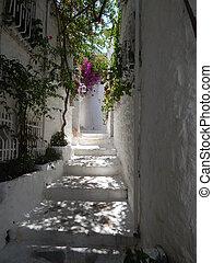 Mediterranean architecture in the Aegean Sea in Turkey, Marmaris