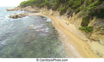 Mediterranean Beach Aerial View 03