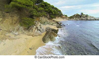 Mediterranean Beach Aerial View 04