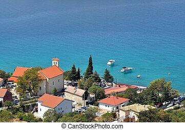 Mediterranean beach village houses