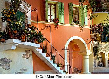 Mediterranean Building - Imitation of a mediterranean ...